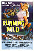 1955 RUNNING WILD VINTAGE MOVIE POSTER PRINT STYLE A 36x24 9 MIL PAPER