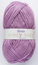 5 X 100g balls ROBIN COMFY BABY DK 4067 Violet