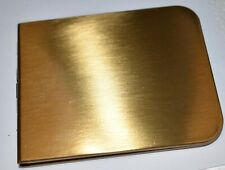 BRASS MONEY CLIP CASE WALLET * NOS * PROTECTS PAPER MONEY* SPRING CLOSURE