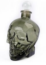 Gentlemens Club Glass Human Skull Drinks Decanter Superb Gift Goth Tattoo Biker