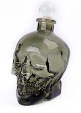 GENTLEMENS CLUB GLASS HUMAN SKULL DRINKS DECANTER SUPERB GIFT GOTH TATTOO BIKER