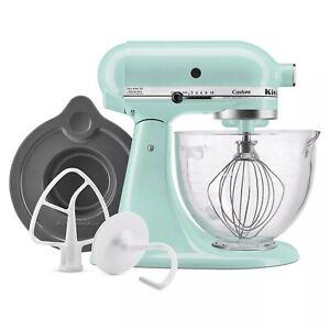 KitchenAid 5qt Artisan Tilt-Head Stand Mixer w/Glass Bowl - Ice