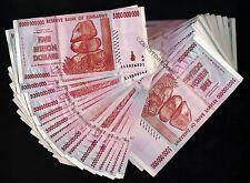 Zimbabwe 5 Billion Dollars x 50 Banknotes Bundle AA AB 2008 Currency Paper Money