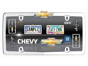Chevrolet Chevy Bowtie Logo Chrome License Plate Tag Frame for Auto Car Truck