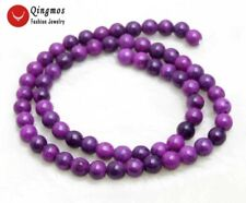6mm Round Purple Natural Sugilite Loose Beads for Jewelry Making DIY Strand 15''