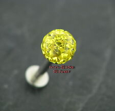 Piercing Tragus straßball amarillo 1,6mm labret pendientes labios piercing Madonna