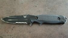 Benchmade 147 Fixed Blade Knife Black Bk 154Cm Nim Cub Serrated Made Usa