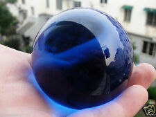 60 MM Asian Rare Natural Quartz Blue Magic Crystal Healing Ball Sphere +Stand