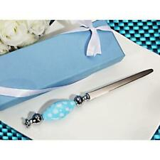 Stunning Murano Art Letter Opener Blue and White Dot Handle Gift