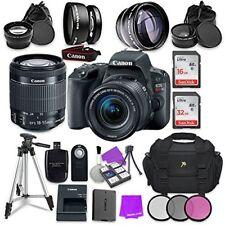 Canon EOS Rebel SL2 Digital SLR Camera + EF-S 18-55mm IS STM Lens + Acc bundle