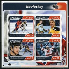 MALDIVES  2017  ICE HOCKEY JAGR, CROSBY, OVECHKIN & ORR  SHEET FIRST DAY COVER