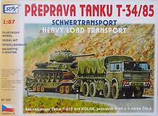 Sonderset Tatra T813 8x8 , P-50 , T-34/85 , HO, 1/87, SDV, Plastikbausatz, *NEU*