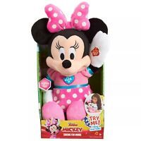 Disney Clubhouse Fun Minnie Mouse Mickey Bowtique Song & Phrases Doll Plush Toy