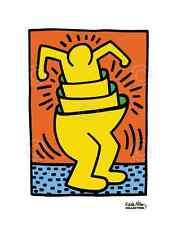 KH06 by Keith Haring Art Print Yellow Man Dancing Dance Pop Poster 11x14