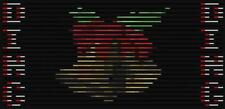 "Light-O-Rama 24 Pixel Matrix Sequence to: """"Holly Jolly Christmas""."
