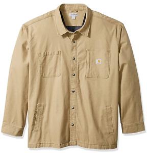 NWT Carhartt Men's Rugged Flex Rigby Shirt Jacket Dark Khaki Size M LAST ONE!!!