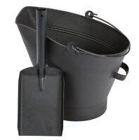 Waterloo Coal Bucket and Shovel Set Black Fireplace Wood Burning Charcoal