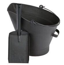 WATERLOO il carbone secchio e Pala Set Nero CAMINO LEGNA CARBONE