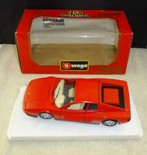 Vintage Burago Ferrari Testarossa (1984) cod.1504 1:24 made in Italy NIB