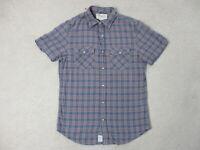 Ralph Lauren Denim & Supply Button Up Shirt Adult Small Blue Orange Western Mens