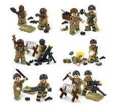 Building blocks WW2 Marines soldiers  Zombie Army 12 +mini Figures accessories