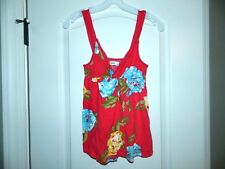 Girl's Abercrombie Red Flower Shirt Top Size L 10/12