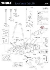 PORTATARGA PER EUROCLASSIC g6 bicicletta supporto post