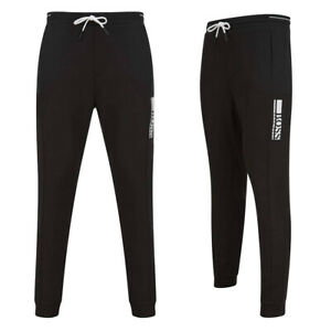 Hugo Boss Mens Joggers Hadiko Fitted Drawcord Waist Cotton Track Pants in Black