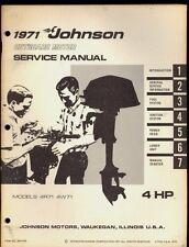 1971 JOHNSON SEA HORSE MODEL  4HP / 4R71 / 4W71 OUTBOARD MOTOR SERVICE MANUAL