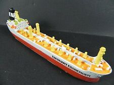 Ship Model Tanker Eberhart Essberger Hamburg, 7 1/8in Polyresin, Miniature Item