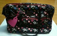Betsey Johnson Betseyville Travel Bag Luggage Tote Laptop Safe Weekender NEW