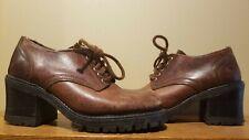 Vintage leather platform shoes (womens)