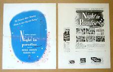 NIGHT IN PARADISE Arthur Lubin MERLE OBERON Turhan Bey 1946 PRESSBOOK