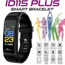 ID115 HR Plus Bluetooth Smart Watch Fitness Tracker Bracelet HeartRate Steps
