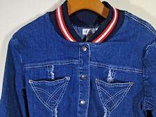 ~ RARE ~ BABY PHAT JEAN CO ~ Denim Blue Button Front Jacket Size MEDIUM M