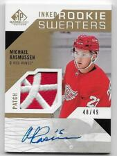 18/19 SP GAME USED INKED ROOKIE SWEATERS AUTOGRAPH PATCH Michael Rasmussen /49