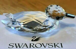 "Swarovski Crystal Small ""Mini Zoo"" Mallard Duck Figurine, Silver Bill, Box, COA"
