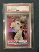 2019 Topps Chrome #22 GARY SANCHEZ Pink Refractor Yankees PSA 9 Mint *POP 3*