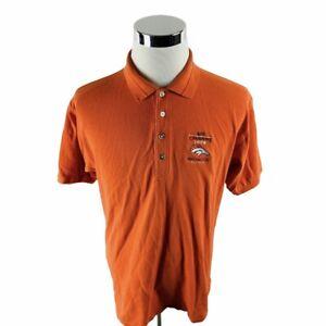Vintage NFL Denver Broncos 1998 AFC Champions Orange Polo Shirt Men's Large L