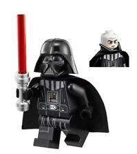 LEGO STAR WARS MINIFIGURE DARTH VADER NECK PIECE WHITE HEAD RED LIGHTSABER 75093