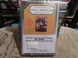 All I Know is Just What I Read in the Papers by Will Rogers (Cassette) NEW
