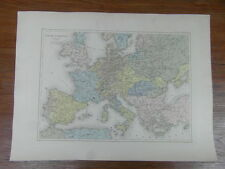 CARTE ANCIENNE OLD MAP v.1860 Gaume Freres & Duprey : EUROPE OCCIDENTALE 1492