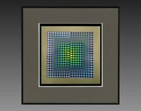 "VICTOR VASARELY (1906-1997) ANCIENNE SERIGRAPHIE "" CYNETIQUE "" VERS 1970/75 (28)"