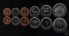 MAURITIUS 1 5 20 1/2 1 5 RUPEES 1987-2005 DEER UNC CURRENCY ANIMAL  6v COIN SET