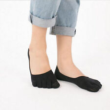 Cotton Patternless Women's Toe Socks