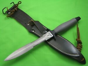 NEW Gerber Mark II 1977 Commando Knife, Partially Serrated Blade, Leather Sheath