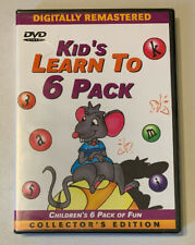 NEW *Sealed* DVD KID'S LEARN TO 6 PACK      Kids Animation.  11