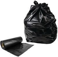 Heavy Duty Black Refuse Sacks Strong Bin Liners Dustbin Bags - 100 200 400 1000