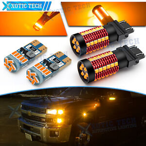 Canbus LED Front Turn Signal Light + Side Marker for Chevy Silverado 1500 Tahoe