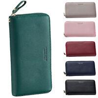 Womens Purses Leather Wallets Ladies Long Zipper Purse Wallet Card Holder Top